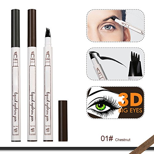 New Eyebrow - CINIDY Eyebrow Pen 2018 NEW 3D Eyebrow Long Lasting Tint Dye Cream,Waterproof,Smudge-proof (# 01)