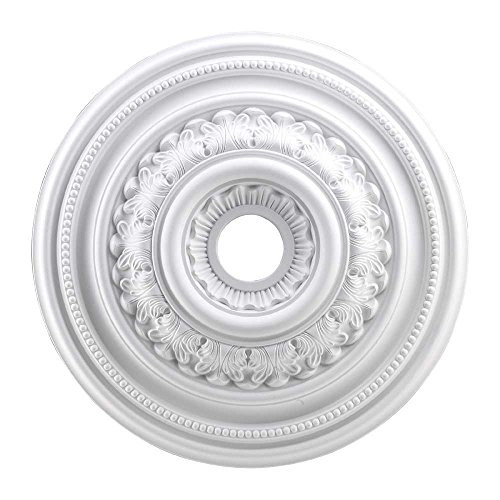 Elk M1012WH English Study Ceiling Medallion, 24-Inch, White Finish ()