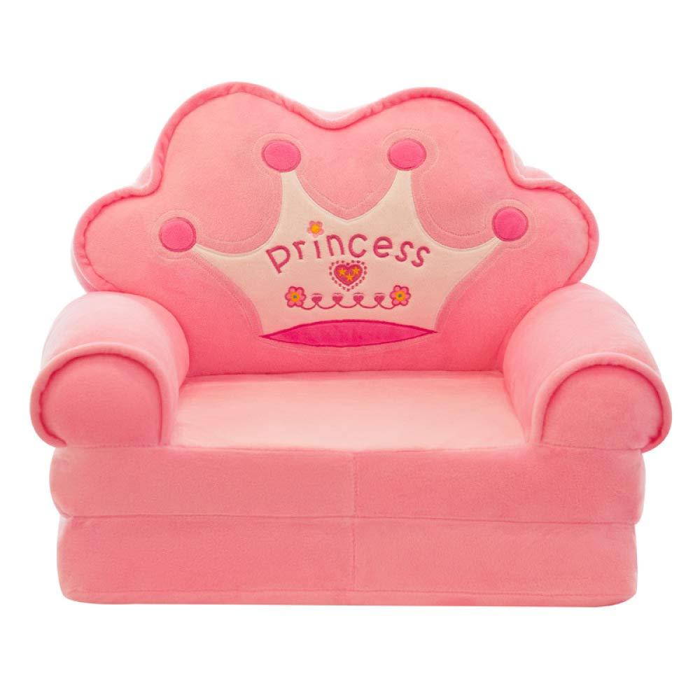 HOMDREAM Pl/üsch Kindersofa Sitzen Stuhl Prinzessin Crown Sessel Niedlichen Cartoon Waschbar Kinder Falten Sofa St/ühle Sitzbezug Gepolsterte Wohnzimmerm/öbel,Blue