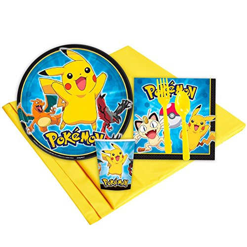 Pokemon Party Supplies - Party Pack for 8 Guests - Party City Ash Costume