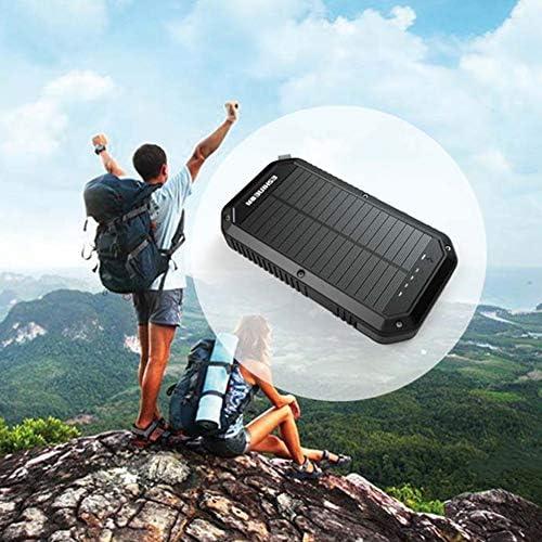 3 USBポート防水折り畳み式のキャンプ旅行充電器の互換性のiPhoneのX XSマックスXR X 8 7プラス、アプリ、ギャラクシーS9 S8エッジプラス、ノート、LG、ネクサス、そしてその他とソーラー充電器5Wソーラーパネル