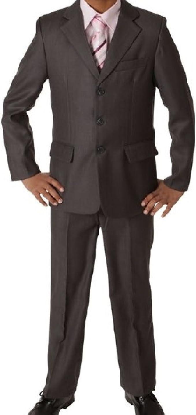 New Fashion Edel 5 teilige Kinder Anzug in dunkelgrau für
