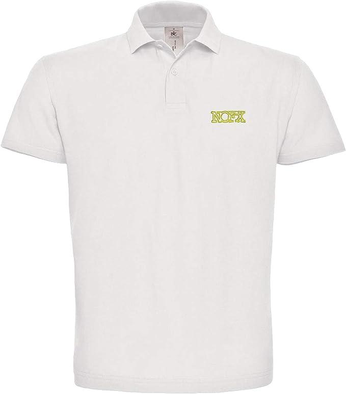 NOFX Musik Rock Punk Icon Fun Coche Polo Bordado 100% algodón Polo de Golf para Hombre - 157 - Weiß (M): Amazon.es: Ropa y accesorios