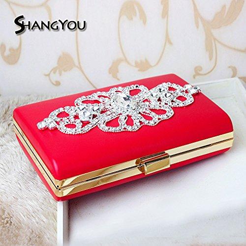 Evening diamond high gules drill celebrity handbag handbag FYios bag banquet end dress banquet AEIIwd