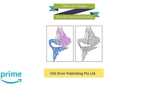 Amazon.com: Tema De Sirena: Libro De Colorear Para Niños (Spanish ...
