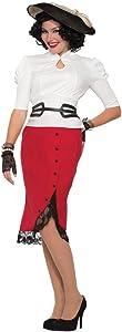 Forum Novelties Red 1940's Pencil Skirt Costume (14/16) s)