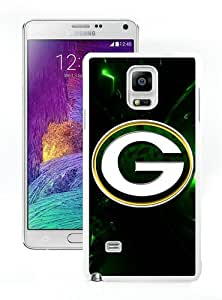 Hot Sale Samsung Galaxy Note 4 Screen Cover Case With Green Bay Packers 25 White Samsung Note 4 Case Unique And Beautiful Designed Phone Case