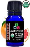 organic fruit essential oils - Aweganics Pure Grapefruit Oil USDA Organic Essential Oils, 100% Pure Natural Premium Therapeutic Grade, Best Aromatherapy Scented-Oils for Diffuser, Home, Office, Women, Men - 10 ML - MSRP $14.99