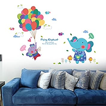 Loaest Cartoon Stickers Chambre Enfants Decoration Murale