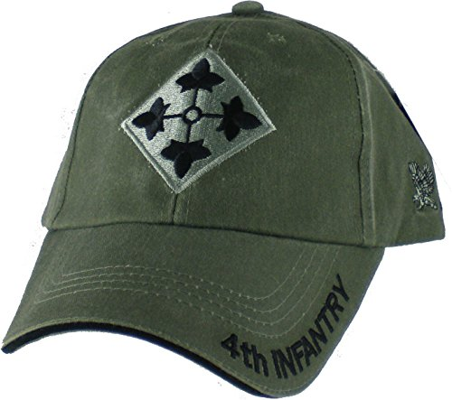 4th Infantry Division Green Low Profile Cap