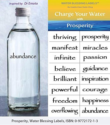 Water Blessing Labels Prosperity Collection 16 -