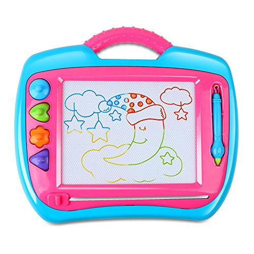 Beebeerun Drawing Doodle Board,Magnetic Writing Board Game-Erasable Colorful Education Sketching Learning Notepad Toys for Toddlers Kids, STEM Toys for 3 4 5 6 7 Year Old Girls Boys