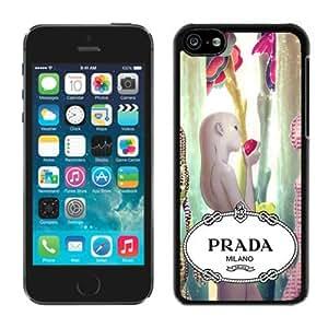 Fahionable Custom Designed iPhone 5C Cover Case With Prada 45 Black Phone Case