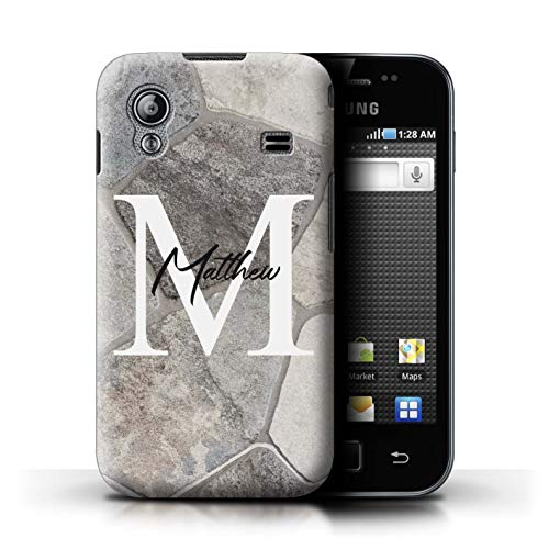 04fbc116f48 Personalized Custom Marble Stone Fashion Case for Samsung Galaxy Ace/Abstract  Slate Grey Design/