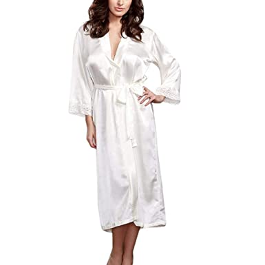 Novia de Damas de Honor Robe lencería Sexy Mujeres Fiesta de Bodas de Seda Robe camisón Ropa de Dormir Albornoz más el tamaño: Amazon.es: Ropa y accesorios