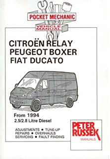 Citroen Relay Diesel Model, to 2001, 2.8 Hdi Turbodiesel