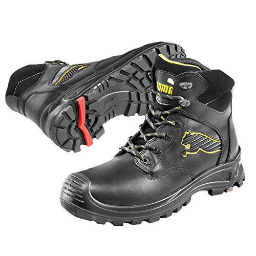Men's Synthetic Boots Black Leather Puma And Safety 5qCxn4ww6