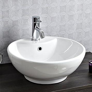 Countertop Sink Bathroom Basin Bowl White Ceramic. Countertop Sink Bathroom Basin Bowl White Ceramic  Amazon co uk