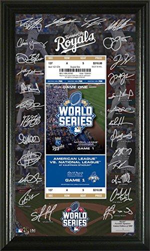 World Series Ticket Frame - KC Royals 2015 World Series Signature Ticket