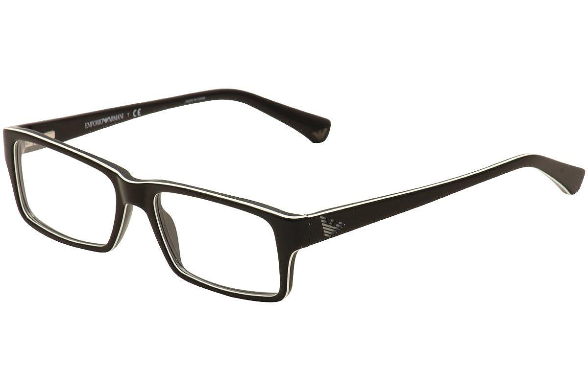 Amazon.com: Armani Exchange AX3017 Eyeglass Frames 8004-52 - Black ...
