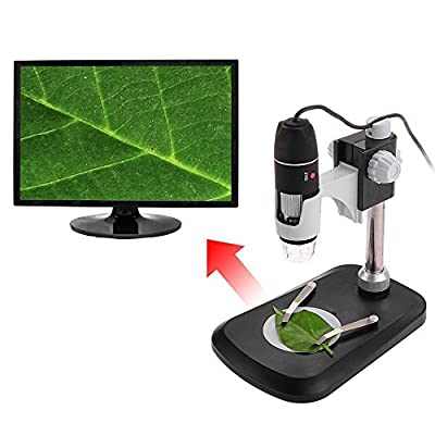 USB Microscope, COLEMETER USB 2.0 Handheld Digital Microscope 2MP 500X 8-LED Zoom Digital Magnifier Endoscope Video Camera with Stand for WIN XP / VISTA, WIN 7/ 8 /10, Mac