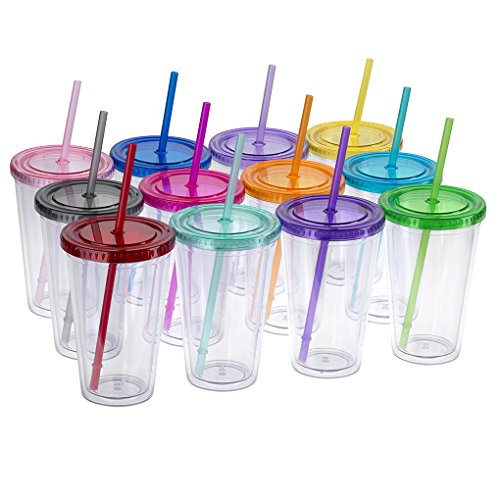 Maars® Classic Insulated Tumblers 16 oz. | Double Wall Acrylic | 12 pack