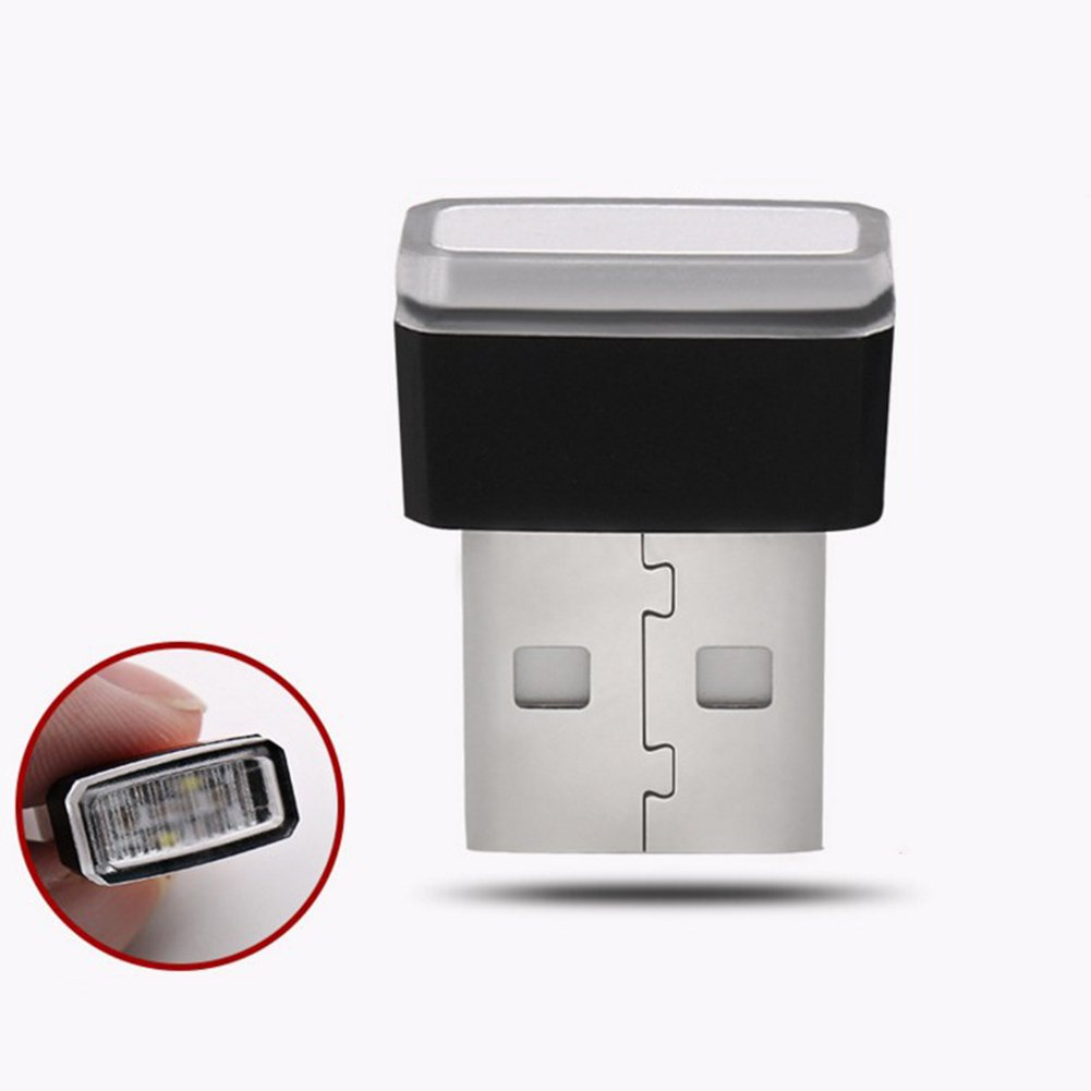 GEZICHTA Luces de ambiente para coche luz azul iluminaci/ón USB para coche l/ámpara decorativa universal USB mini luz inal/ámbrica interior para encendedor de cigarrillos
