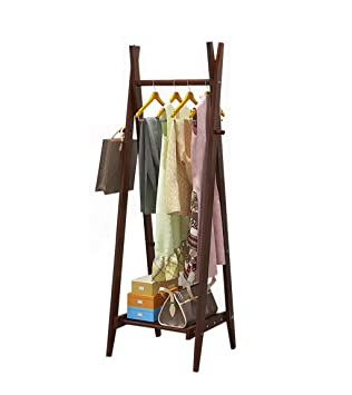 LF Coat rack Perchero de Madera Plegable Minimalista, riel ...