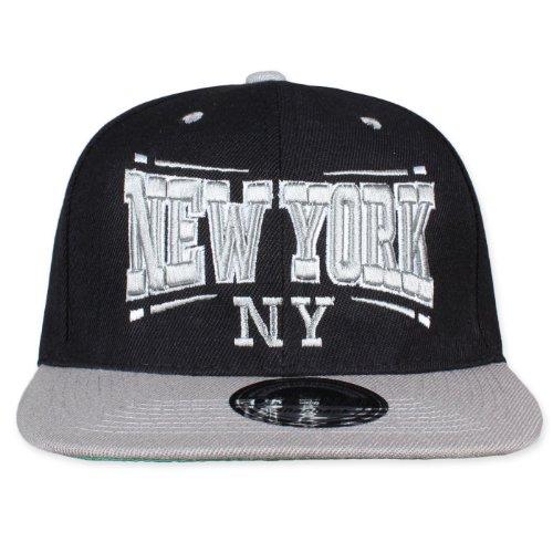 de para béisbol Gorra Schwarz Weiß hombre Snapback Original NY Square xqUvaFW