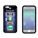 249 - Doctor who Tardis Call Box Travel Machine Design iphone 5 5S Full Body CASE With Build in Screen Protector Rubber Defender Shockproof Heavy Duty Builders Protective Cover