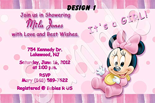Minnie Mouse Baby Shower Personalized Invitations More Designs Inside!