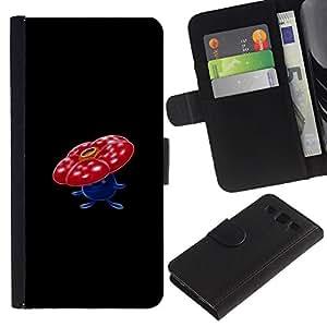 LECELL--Cuero de la tarjeta la carpeta del tirón Smartphone Slots Protección Holder For Samsung Galaxy S3 III I9300 -- Vileplume P0kemon --