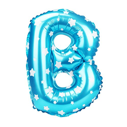 Point A To Point B Costume (CSSD A to Z Letter Wave Point Foil Balloons Party Ballon Blue 16 inch (B))