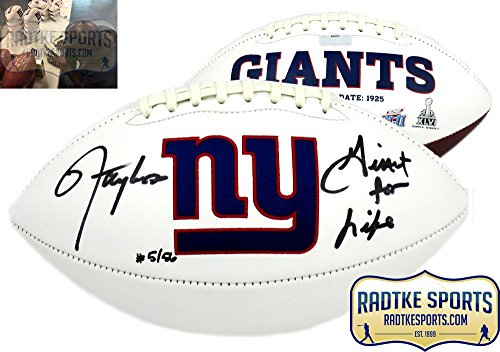 Lawrence Autographed Football Taylor - Lawrence Taylor Autographed/Signed New York Giants Embroidered Logo Football with