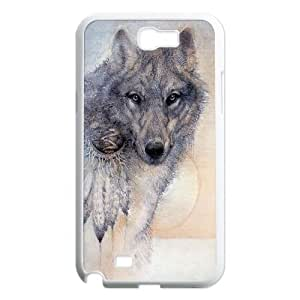 Wolf Colorful Painting DIY Durable Hard Plastic Case Cover LUQ347228 For Samsung Galaxy Note 2 N7100