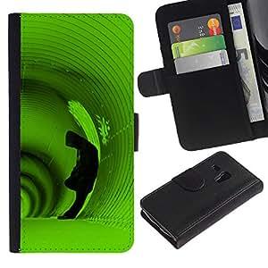Ihec-Tech / Flip PU Cuero Cover Case para Samsung Galaxy S3 MINI NOT REGULAR! I8190 I8190N - Deep Tunnel Hoodie Man Green Alone
