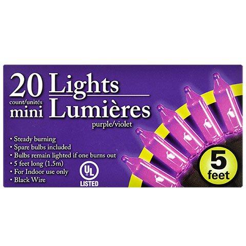 ML Warehouse Halloween Decoration & Craft Collection 2018 (Mini Purple Halloween Lights, 5-Ft. Strands)