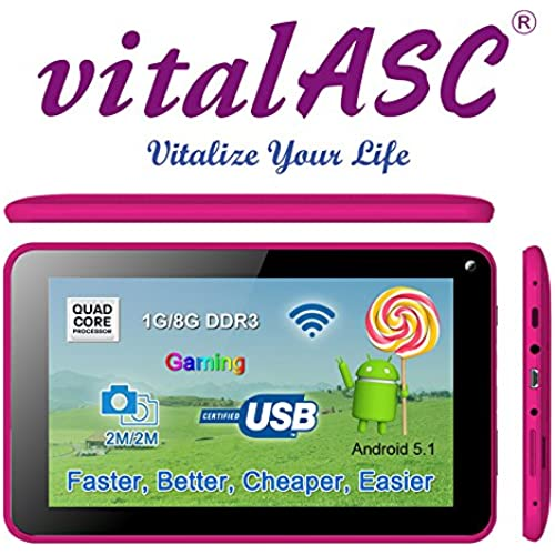 vital-Pulse 7 Quad Core 1.3 1GB 8GB Android 5.1 tablet Coupons