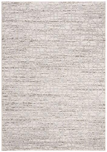 (Safavieh CSC170A-8 Cascade Collection CSC170A Cream and Silver Premium Polyester (8' x 10') Area Rug,)