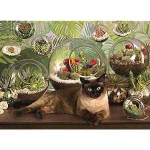 Cobblehill 80049 1000 Pc Terrario Cat Puzzle Vari