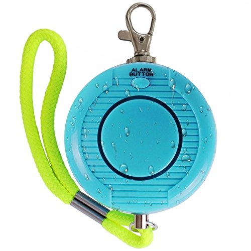 [Enyee 120dB Personal Alarm Waterproof Loud Siren Device Student Daily Rainproof Self Defense Emergency Security Alarm Systems Keychain with rope & Belt for Women/Attack Rape/Jogger/Kids/Elderly (Blue)] (Gsm Battery Door)