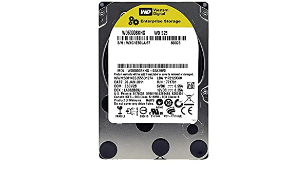 Amazon com: WESTERN DIGITAL WD6000BKHG S25 600GB 10000 RPM 32MB