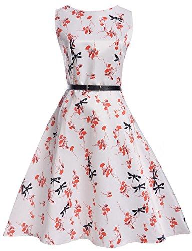 Rockabilly Swing Enfants Hepburn 1950s Chaud 2017 Sans Style Robe Motif Années 50 Agogo Fille Vintage 4 Audrey Manche 7AgAOv