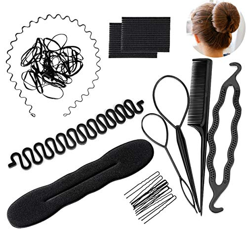 11 Pcs Hair Braid Tool Hair Styling Accessories Kit Set Bun Maker - Hair Styling Accessories Kit Set for DIY for Styling Accessories for Girls or Women