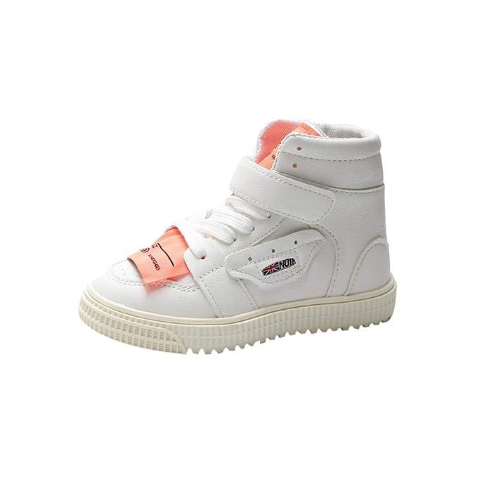 YanHoo Zapatos para niños Botas Altas de Calzado Deportivo para niños y niñas Otoño Niños Bebé