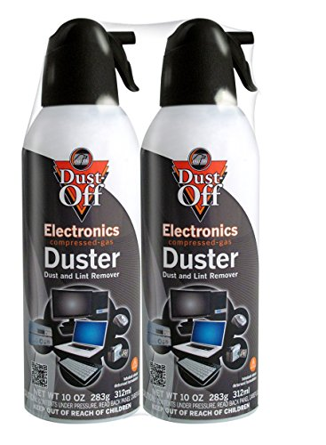 Dust-Off 10 oz Compressed Gas Duster, 2 Pack