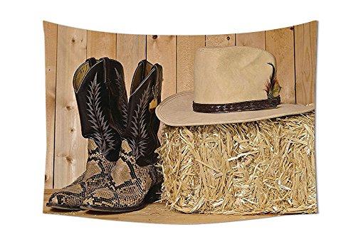 asddcdfdd Western Decor Tapestry Snake Skin Cowboy Boots Tim