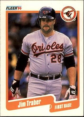 Amazoncom 1990 Fleer Baseball Card 193 Jim Traber Mint