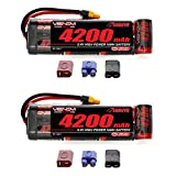 Venom 8.4V 4200mAh 7-Cell NiMH Battery Flat with Universal Plug (EC3/Deans/Traxxas/Tamiya) x2 Packs