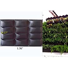Garden Vertical Planter Multi Pocket Wall Mount Living Growing Bag Felt Indoor/Outdoor Pot (12-Pocket (3x4))